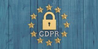 Общая регулировка защиты данных, защита личного d стоковое фото rf