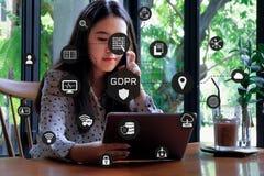 Общая регулировка защиты данных Стоковые Изображения RF