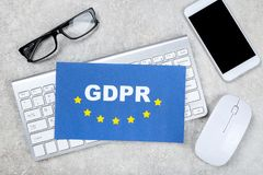 Общая регулировка защиты данных стоковое изображение rf