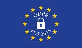 Общая регулировка GDPR защиты данных Стоковые Изображения RF
