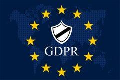Общая регулировка GDPR защиты данных Стоковое Изображение RF
