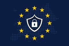 Общая регулировка GDPR защиты данных Стоковые Фото