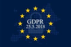 Общая регулировка GDPR защиты данных Стоковые Изображения