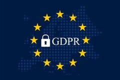 Общая регулировка GDPR защиты данных Стоковое Фото