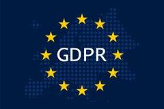 Общая регулировка GDPR защиты данных Стоковая Фотография