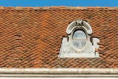 Общая средневековая крыша дома стоковое изображение rf