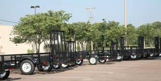 Общего назначения трейлеры для транспортировать груз стоковое фото