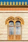 Общее средневековое окно дома стоковые изображения rf