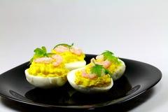 общее eggs креветки Стоковое Изображение