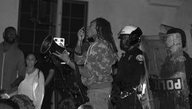 Общенациональный протест над постановлением гранд-жюри Ferguson Стоковое фото RF