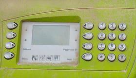 Общественная старая кнопочная панель телефона Стоковое фото RF