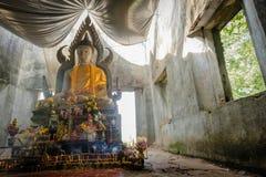 общественная старая тайская статуя Будды вышла в лес на 100 лет Стоковые Фото