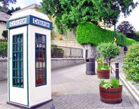 Общественная телефонная будка Стоковое Изображение RF