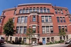 общественная школа nettelhorst chicago Стоковые Фотографии RF