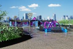 Общественное здание проекта one-storey Стоковая Фотография RF