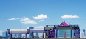 Общественное здание проекта one-storey Стоковое Изображение RF