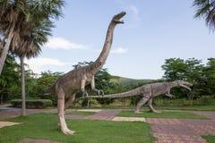 Общественные парки статуй и динозавра в KHONKEAN, ТАИЛАНДА Стоковые Фото