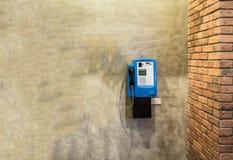 Общественные таксофоны на стене Стоковые Изображения RF