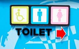 общественные туалеты знака Стоковое Изображение RF