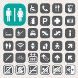 Общественные установленные значки Стоковые Фотографии RF