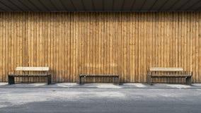 Общественный деревянный стенд Стоковая Фотография