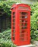 общественный красный телефон Стоковые Изображения