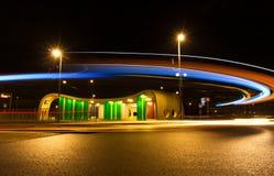 Общественный местный транспорт на ноче Стоковое Изображение