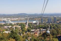 Общественный местный транспорт трамвая Портленда Орегона воздушный Стоковые Фото