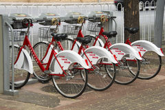 Общественный прокат велосипеда Стоковое Изображение RF