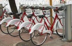 Общественный прокат велосипеда Стоковая Фотография RF