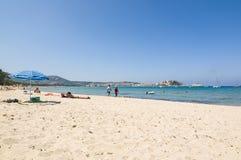 Общественный пляж Calvi Стоковая Фотография RF