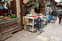 Общественный рынок в Fes стоковые фото