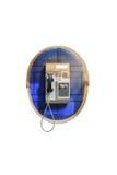 Общественный телефон на белой предпосылке Стоковая Фотография RF