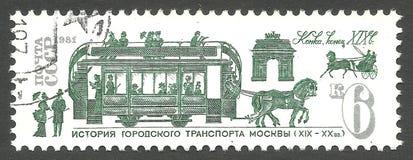 Общественный транспорт, лошади Стоковое Фото