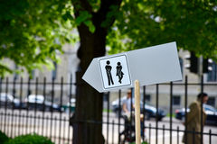 общественный туалет знака Стоковое Фото