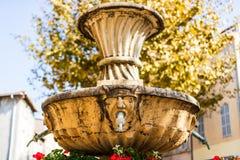 Общественный фонтан, Cassis, Провансаль, Франция стоковые изображения