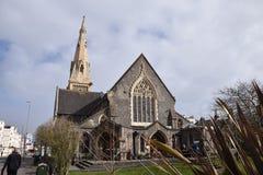 Общественный центр краеугольного камня в преобразованной церков Стоковые Изображения RF