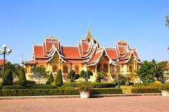 Общество Лаоса буддийское положений Hall стоковое фото