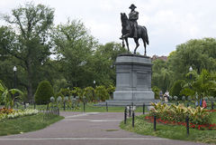 Общие Бостона памятника Джорджа Вашингтона Стоковая Фотография RF