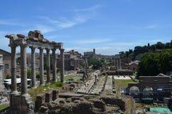 Общий взгляд римского форума Стоковая Фотография