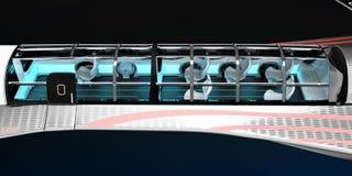 Общий вид интерьера зазвуковых воздушных судн План внутреннего космоса с размещением основы Стоковая Фотография RF