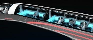 Общий вид интерьера зазвуковых воздушных судн План внутреннего космоса с размещением основы Стоковое Изображение RF