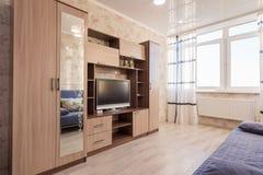 Общий вид обычной залы в квартире стоковое изображение rf