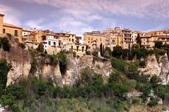 Общий вид городка Cuenca в утре. Кастили-Ла Mancha, Стоковые Фотографии RF