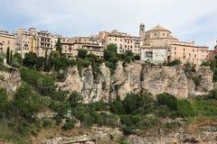 Общий вид городка Cuenca в утре. Кастили-Ла Mancha, Стоковые Фото