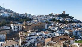 Общий вид старого андалузского городка Martos Стоковые Изображения RF