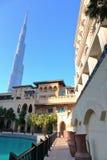 Общий вид центральной площади города Дубай Стоковое Фото