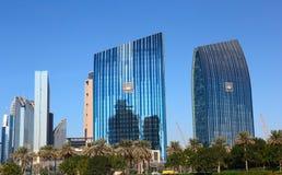 Общий вид центральной площади города Дубай Стоковое Изображение