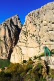 Общий вид Caminito del Rey Стоковое фото RF