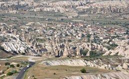 Общий вид Cappadocia, Турции Стоковое Изображение